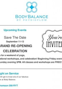 Body Balance August Newsletter